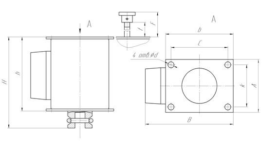 Схема габаритных размеров ЭМТ-17