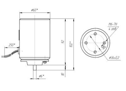 Схема габаритных размеров ЭМВ-11-13
