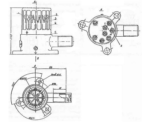 Схема габаритных размеров Датчик ДПС-038