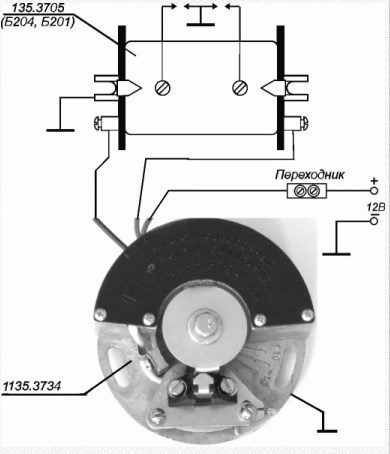 Схема подключения 1135-3734 (К750)