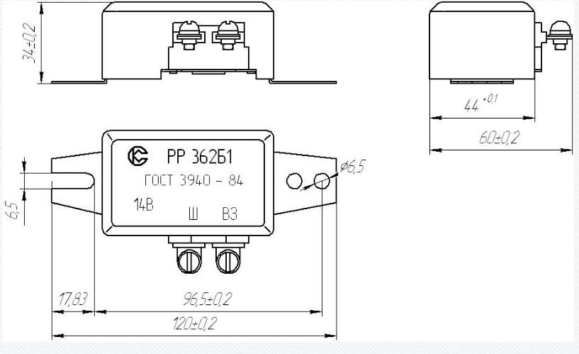 Схема регулятора РР362Б1
