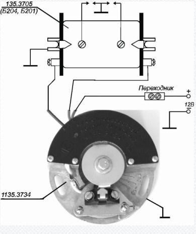 Схема подключения бесконтактной системы зажигания 1135.3734