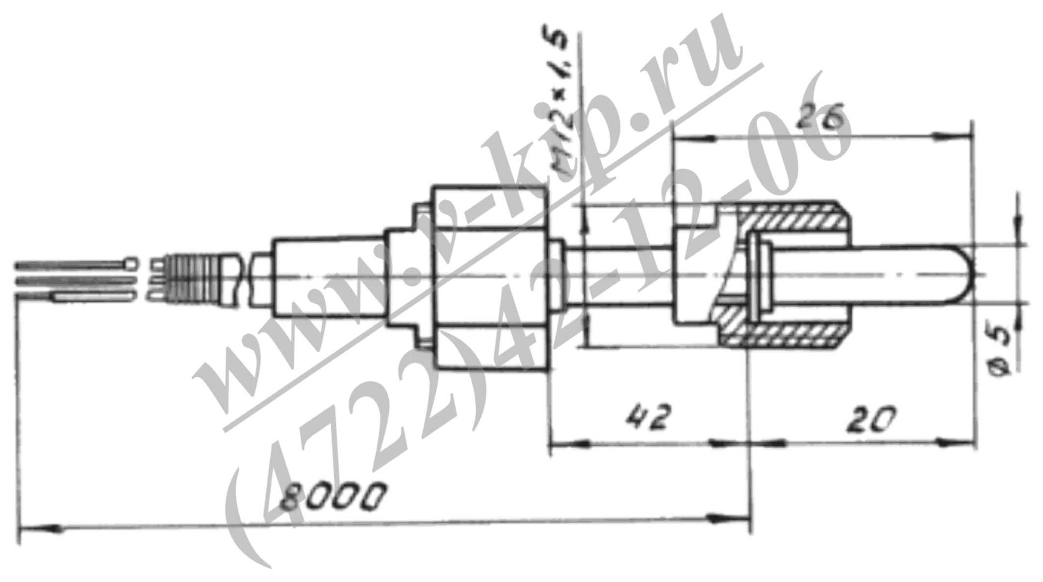 ТСМ-364-01 термопреобразователь - габаритная схема
