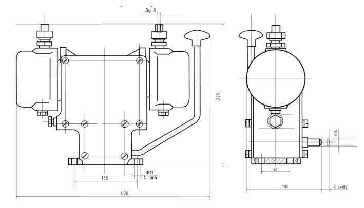 Схема Автомата закрытия клапана АЗК-0,63