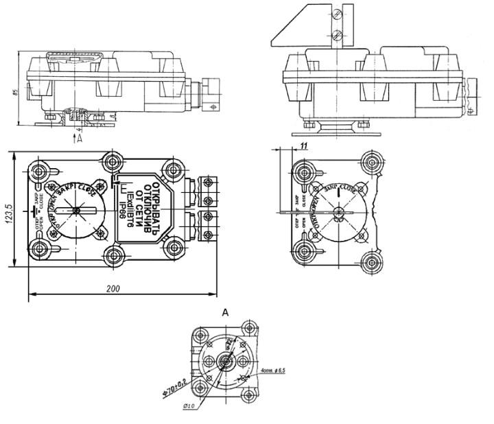 Схема габаритных размеров БКВ-1