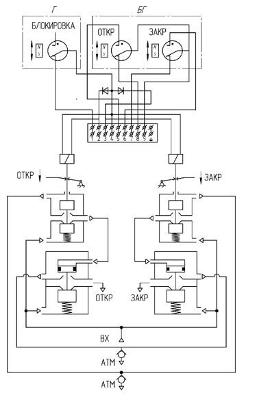 Схема принципиальная Блока БУК-2
