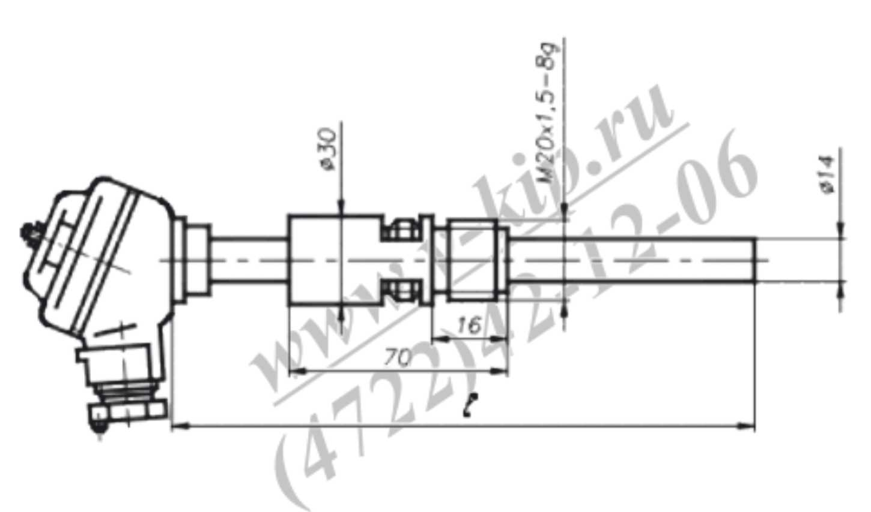 Габаритный чертеж термопар ТХА-1090В, ТХК-1090В - рис 5