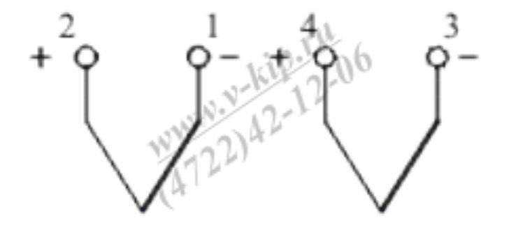 Схема подключения термопар ТХА