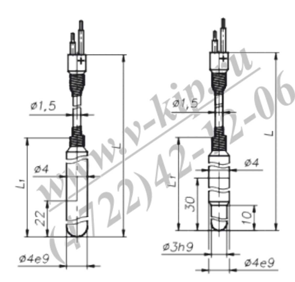 Габариты ТХА-1590В, ТХК-1590В - схема 2