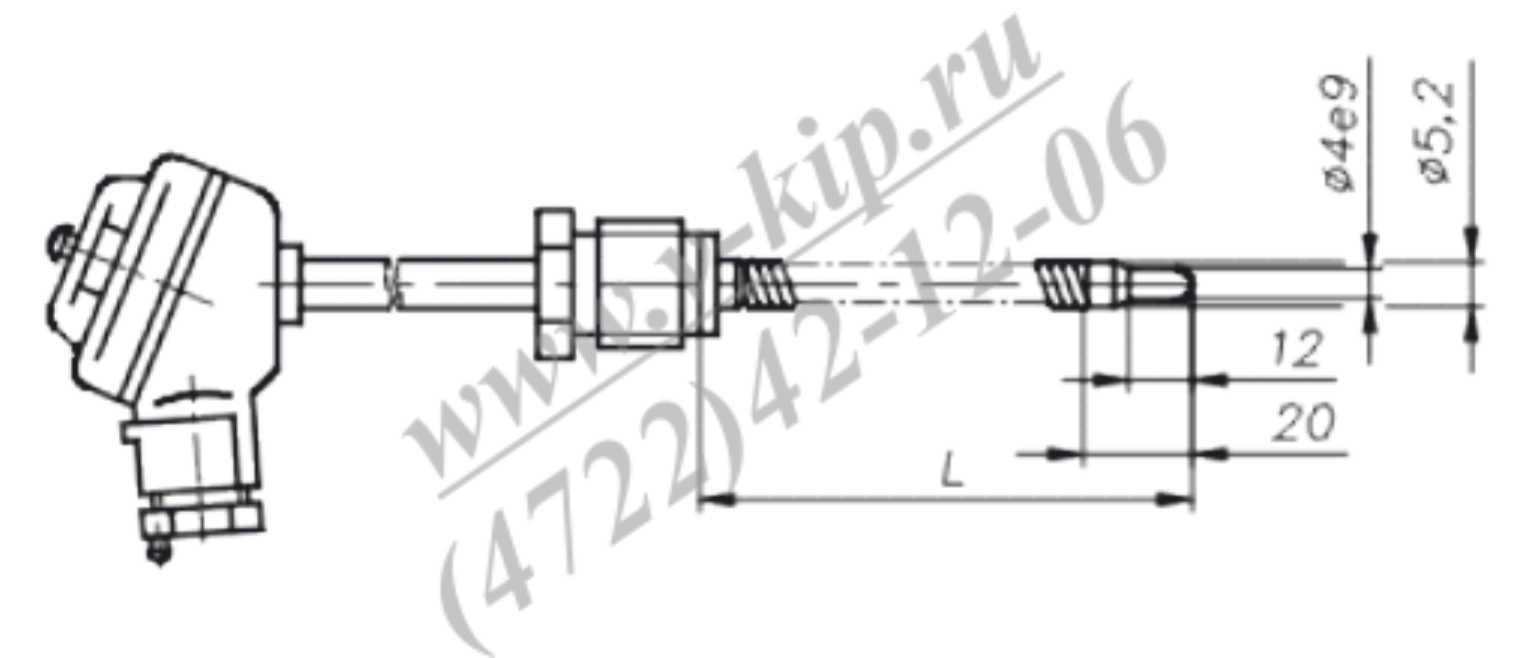ТХА-1690В, ТХК-1690В термопреобразователи - габаритная схема 3