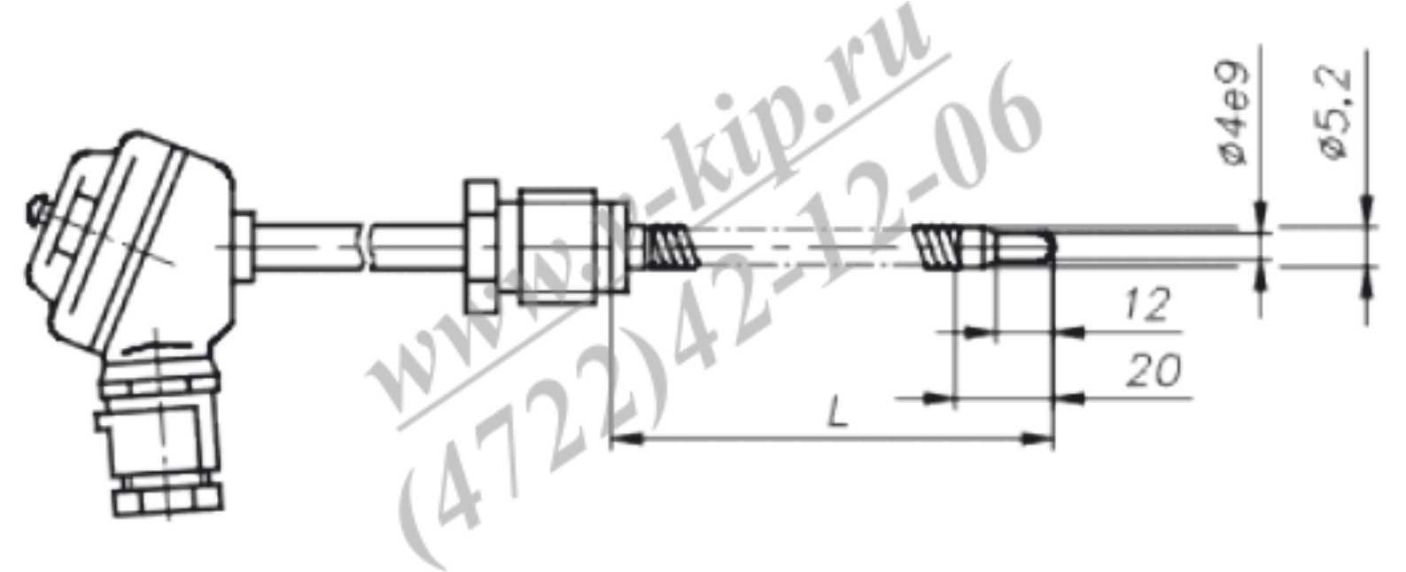 ТХА-1690В, ТХК-1690В термопреобразователи - габаритная схема 6