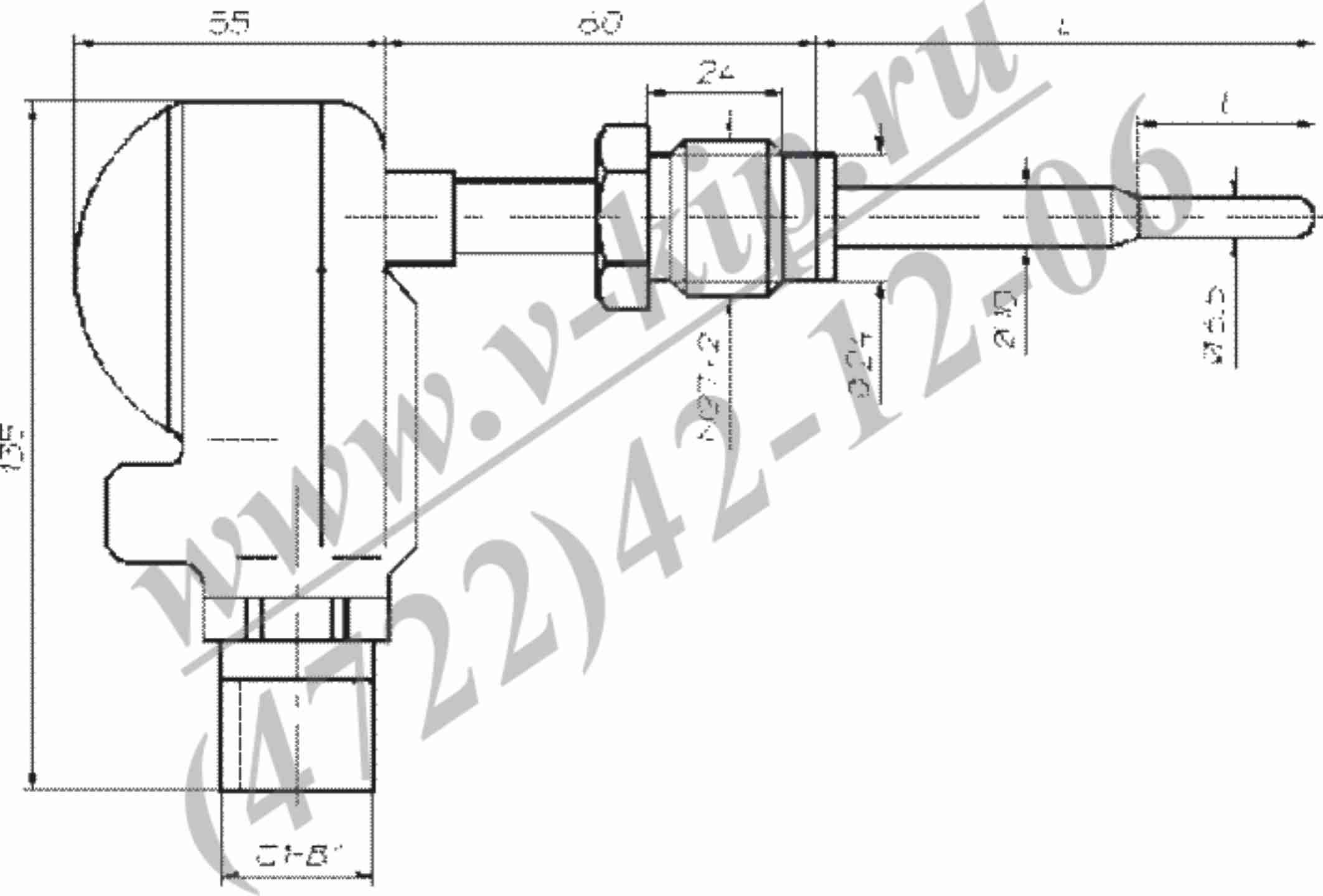 ТСП-0989Р, ТСМ-0989Р - габаритная схема