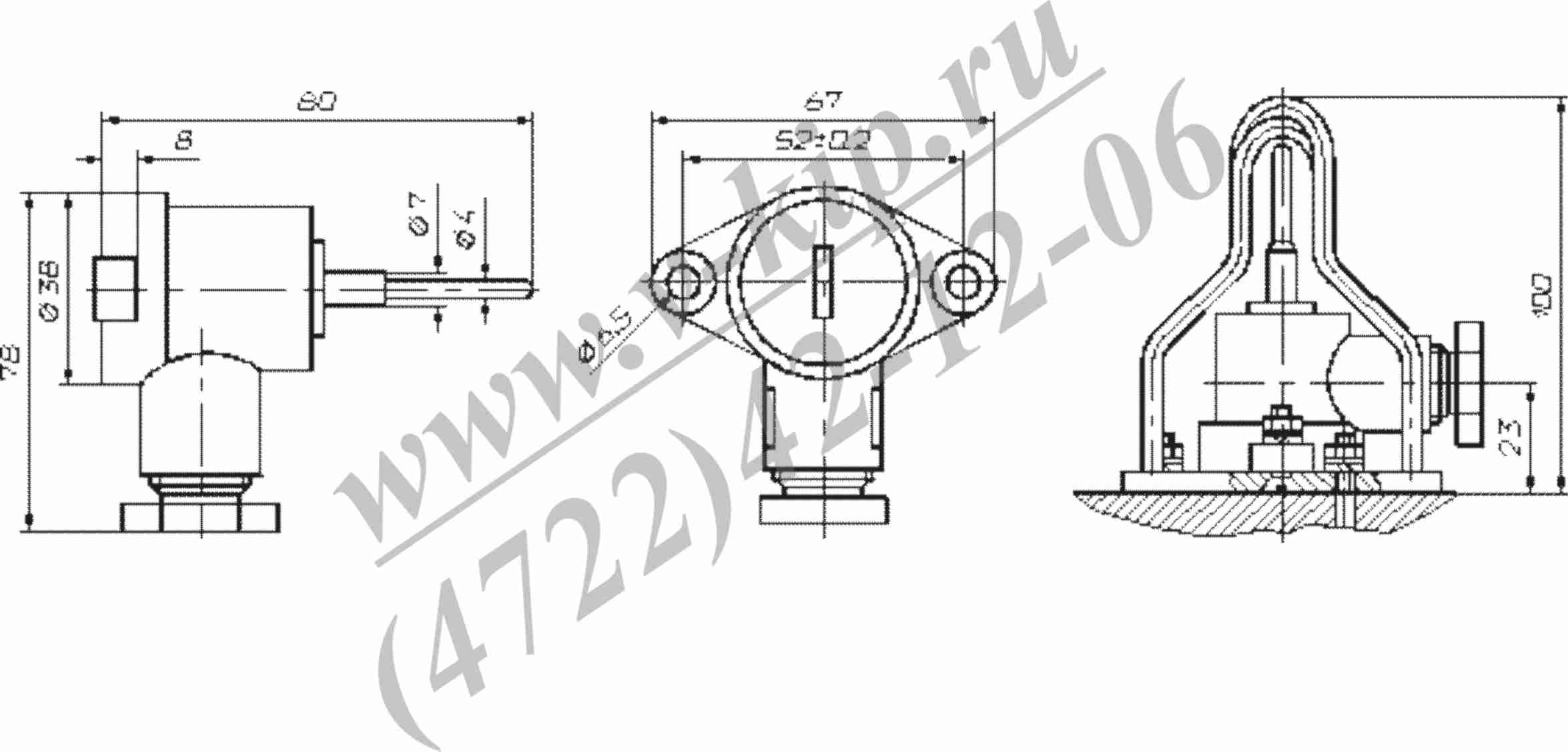 ТСП-8045Р, ТСМ-8045Р термопреобразователи габариты