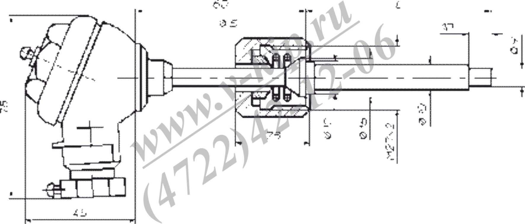 ТСП-8043Р, ТСМ-8043Р термопреобразователи - габариты
