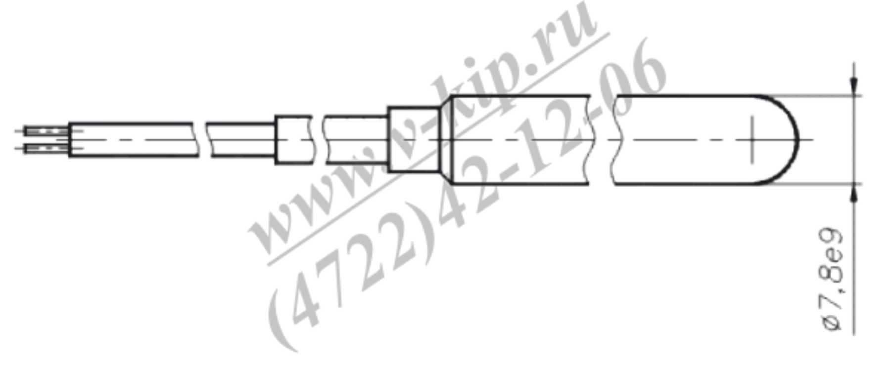 Термопреобразователь ТСП-1790В конструкция